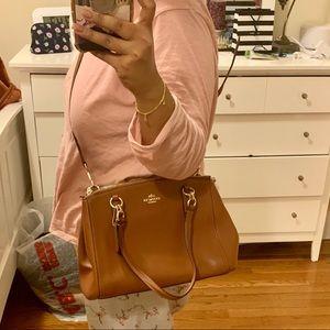 Brown Coach crossbody bag